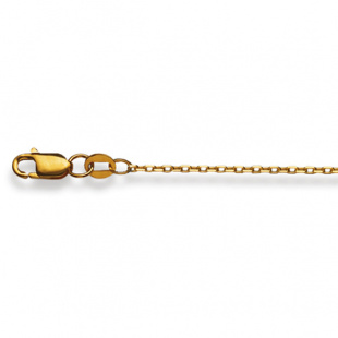 Ankerkette diamantiert 1.3mm in Gelbgold 750/18K