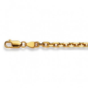 Ankerkette diamantiert 3.6mm in Gelbgold 750/18K