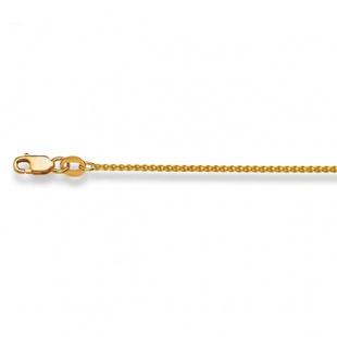 Zopfkette 1.1mm in Gelbgold 750/18K