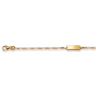 Bébé-Bracelet Figarokette 1.8mm in Gelbgold 750/18K