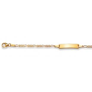Bébé-Bracelet Figarokette 2.4mm in Gelbgold 750/18K