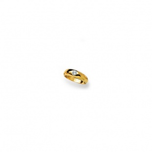 Taufring mit Brillant 0.02ct. H-si in Gelbgold 750/18K