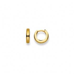 Creolen 12mm ∅ / 2.9mm in Gelbgold 750/18K