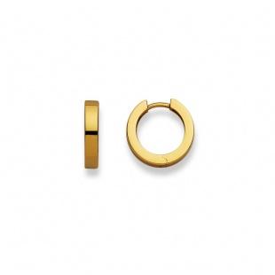 Creolen 15mm ∅ / 3.0 mm in Gelbgold 750/18K