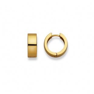 Creolen 15mm ∅ / 6.0mm in Gelbgold 750/18K