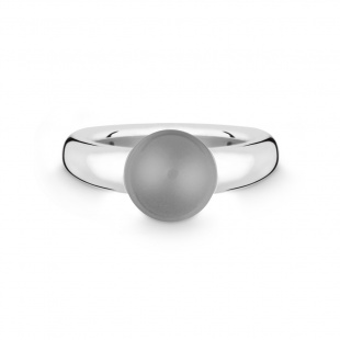 Quinn Damenring mit grauem Mondstein 10mm ∅ in Silber 925