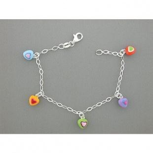 Quinn Armkette mit Herzmotive in Silber 925