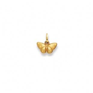 Anhänger Schmetterling 13mm in Gelbgold 750/18K