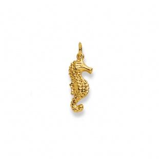 Anhänger Seepferdchen in Gelbgold 750/18K