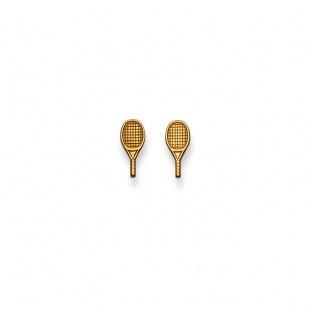Ohrstecker Tennis in Gelbgold 750/18K
