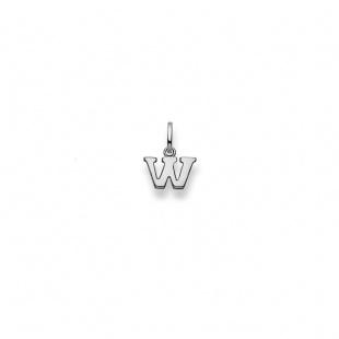 Anhänger Buchstabe W in Weissgold 750/18K