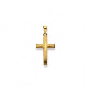 Anhänger Kreuz 4519 in Gelbgold 750/18K