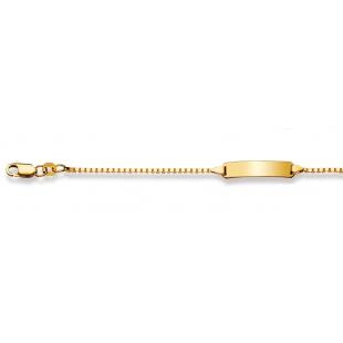 Bébé-Bracelet Venezianerkette 1.3mm in Gelbgold 750/18K