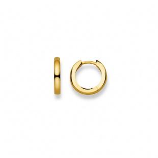 Creolen 14mm ∅ / 2.5mm in Gelbgold 750/18K