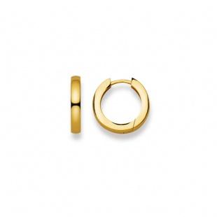 Creolen 16mm ∅ / 2.7mm in Gelbgold 750/18K