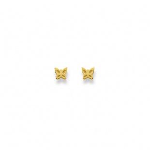 Ohrstecker Schmetterling in Gelbgold 750/18K