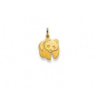 Anhänger Panda Bär in Gelbgold 750/18K