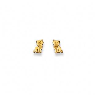 Ohrstecker Kätzchen in Gelbgold 750/18K