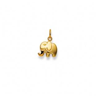 Anhänger Elefant Nr.12 in Gelbgold 750/18K