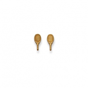 Ohrstecker Tennis in Gelbgold 750/18K