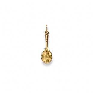 Anhänger Tennisschläger in Gelbgold 750/18K