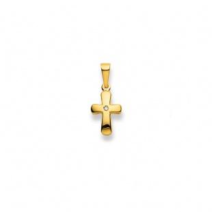 Anhänger Kreuz 4535 mit Diamant in Gelbgold 750/18K