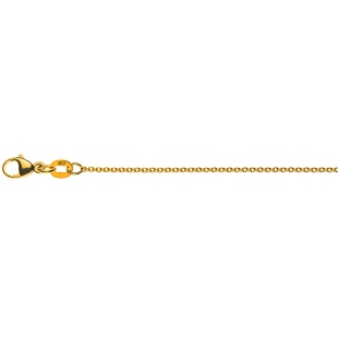 Ankerkette 1.3mm CAN1003 in Gelbgold 750/18K