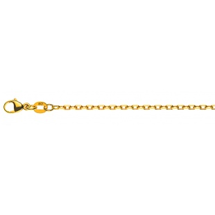 Ankerkette diamantiert 1.8mm CAN1012 in Gelbgold 750/18K