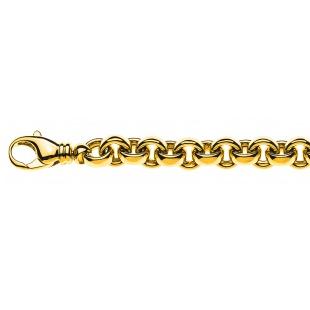 Erbskette Bracelet 7.5mm in Gelbgold 750/18K