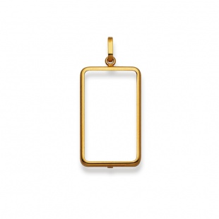 Anhänger Fassung in Gelbgold 750/18K für die neuen 10g Goldbarren
